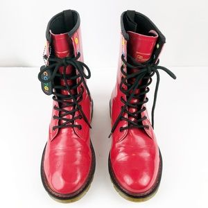 COOGI Shoes - {Coogi} Combat Patent Vegan Leather Boots🚫Offers
